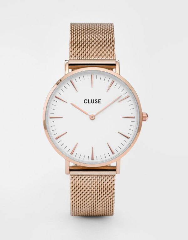 La Boheme Mesh Rose Gold White
