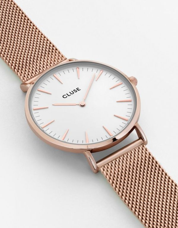 La Boheme Mesh Rose Gold White.